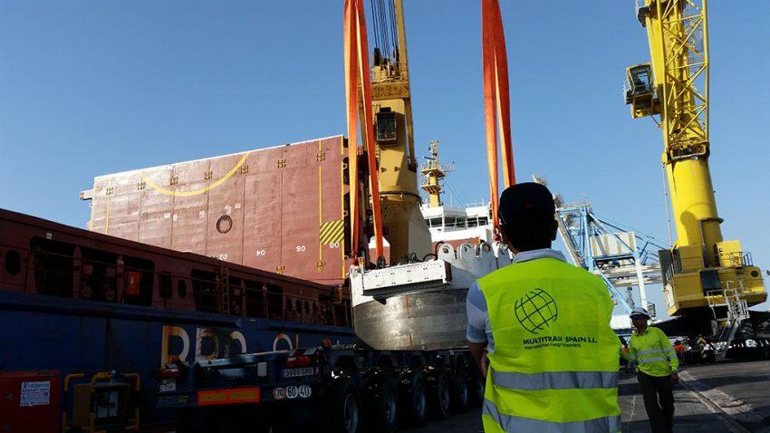 Transporte de tuneladora España – Sicilia