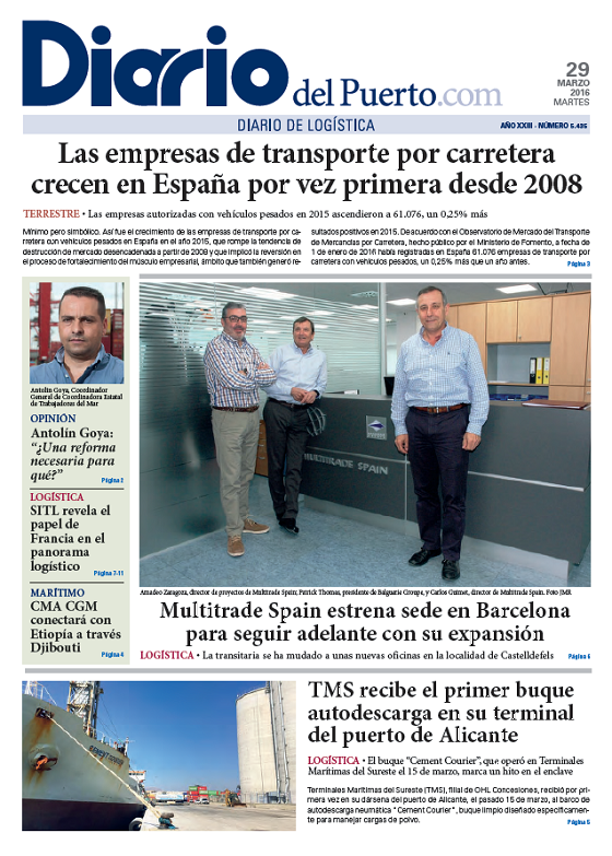 Multitrade Spain dans Diario del Puerto